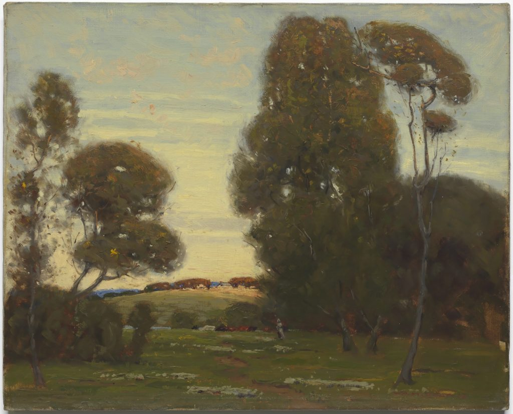 "Untitled French landscape. Oil on canvas.  16"" x 20"".   National Museum of African American History & Culture Smithsonian Institution, Washington, D.C."